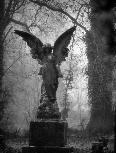 angel pointing upwards